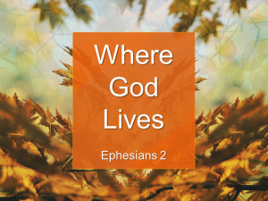 Sermon - Where God Lives