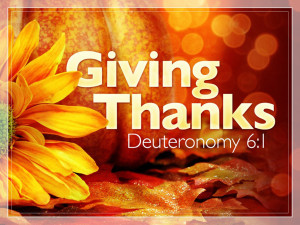 Sermon - Giving Thanks